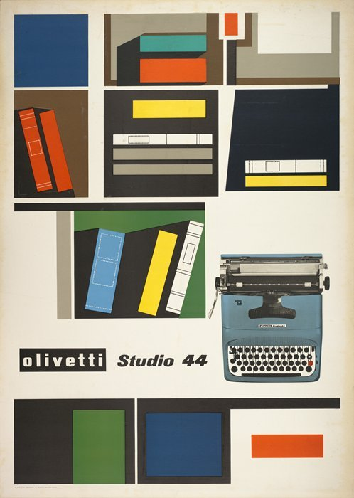 I really like this Italian poster by Giovanni Pintori from 1954 at SF MoMA - would be really cool for a personal library…