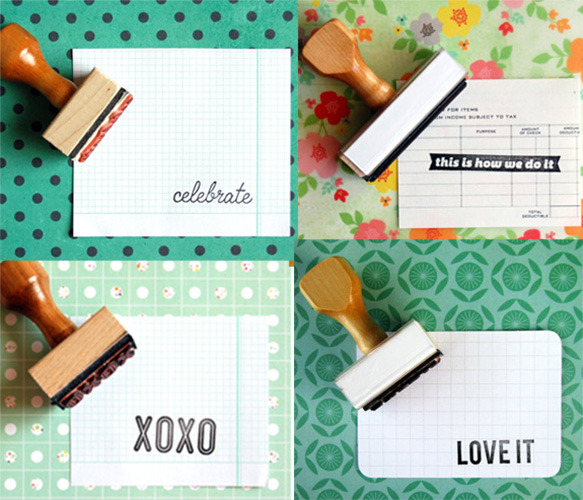 DIY it all summer long - thank you cards, save the dates, summer party invites, simple greetings. Check out all the covetable rubber stamps on Uncovet today and get crafty!