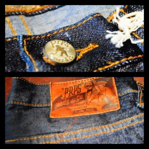"More PRPS in stock. ""Bruised Never Broken"" #PRPS #PRPSGoods #Denim #Distressed #selvedge  (Taken with Instagram)"