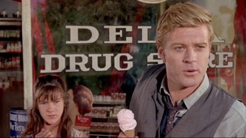 infpsoup:  Robert Redford holding ice cream cone in This Property Is Condemned