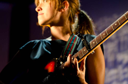 "pitchfork:  Dirty Projectors' Amber Coffman at Brooklyn's Music Hall of Williamsburg. Photo by Colin Kerrigan— more here.  Dirty Projectors, Wye Oak, and Purity Ring are playing Prospect Park in Brooklyn tonight. Tickets are still on sale and I have an extra—send an ""ask"" if you want it!"