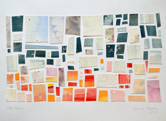 Can't take our eyes off Hallie Lu Ya's paper mosaics. Check out more in her Etsy Shop.