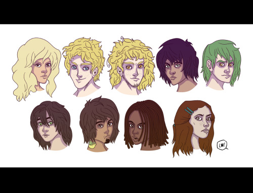 stem-cell:  Headshots of characters from mine and Maggie's mutant town RP. ~ ——Incidentally, I'm doing $10 headshots if anyone wants one similar. Just throw me a note.LW!