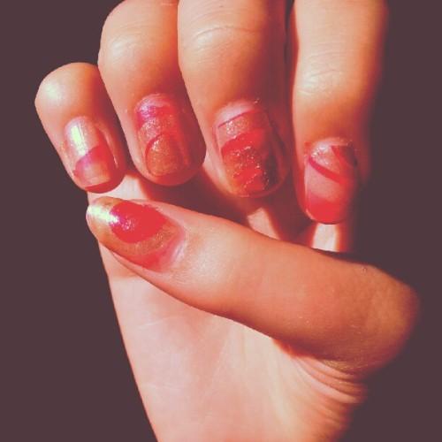 #water #marbeling #nails #me #diy(Taken with Instagram)