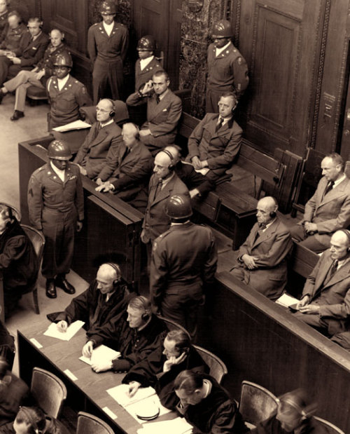 nurembergtrials:  View of defendants in the High Command trial, one of the consequent trials to take place at Nuremberg.