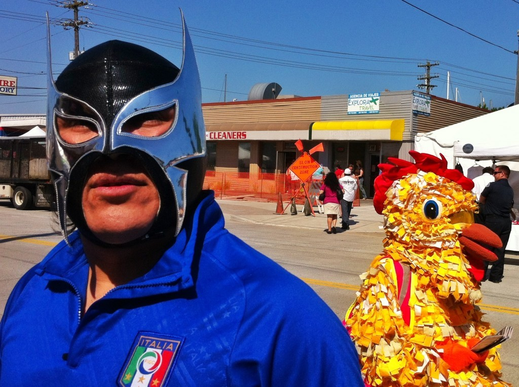 'Lucha Libre En La Calle': A Boyhood Love With Wrestling Everyone did forget about the stereotype of the neighborhood.  It was like people didn't believe that this event could happen without something going down in light of all the bad things happening around the city this year.