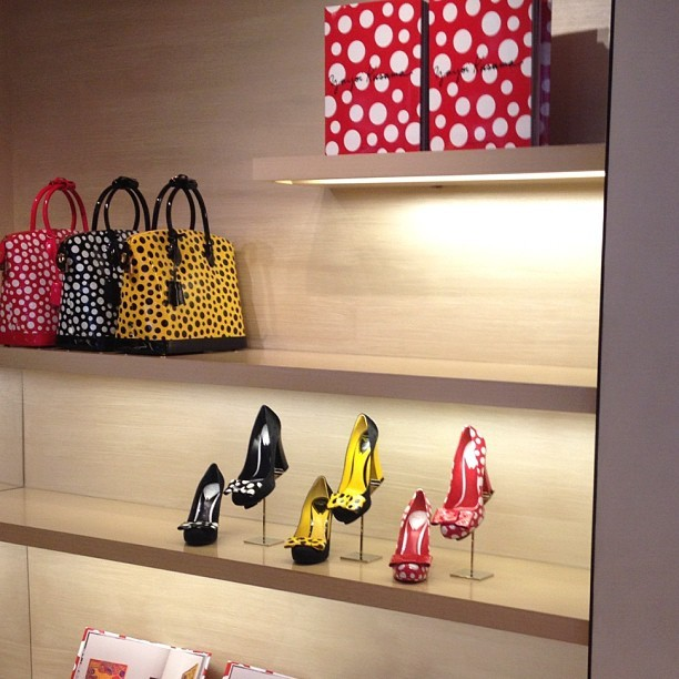 officialstyledotcom:  #lvkusama @louisvuitton_us. ML (Taken with Instagram)  THOSE SHOES.  THOSE BAGS.  I WANT 'EM.