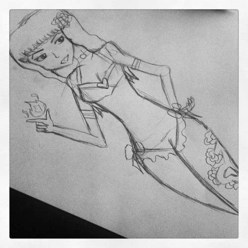 Sailor mars pinup wip. Sick leg tat mars! Hahaha #sailormars #sailormoon #mars #anime #manga #pinup #pinupgirl #tattooart #illustration #art #wip #sketch (Taken with Instagram)