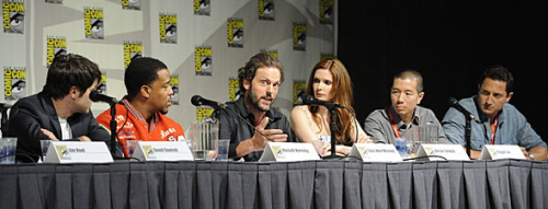 """Get your Grimm on at Comic-Con: Join us for the SDCC panel with producers cast and producers (3:00 PM in Room 6A) Head to Nerd HQ for autographs at 11:00 AM AND for a Q&A at 5:45: www.thenerdmachine.com Walk through the Grimm forest at Tin Fish (Get """"Grimmed"""" by professional theatrical makeup artists) See Aunt Marie's trailer at Gaslamp Square Park – special surprise if you make it out alive!"""