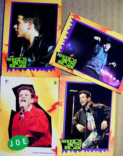 Joe McIntyre NKOTB Trading Cards & Sticker (1989)