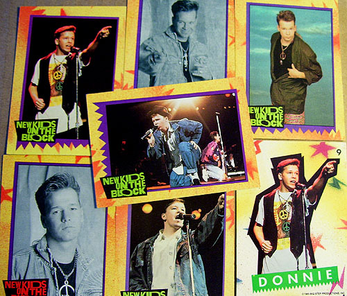 Donnie Wahlberg NKOTB Trading Cards & Sticker (1989)