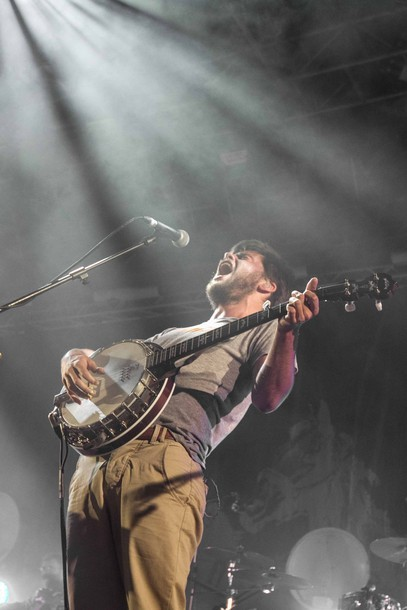 Winston Marshall of Mumford & Sons performs at Harvest of Art Festival in Wiesen, Austria on 6th July 2012. Photo copyright Patrick Muennich.