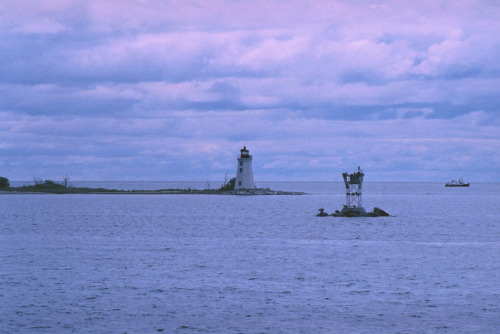 Lighthouse. Minolta XE7 and Fuji 1600 slide film Xpro'd