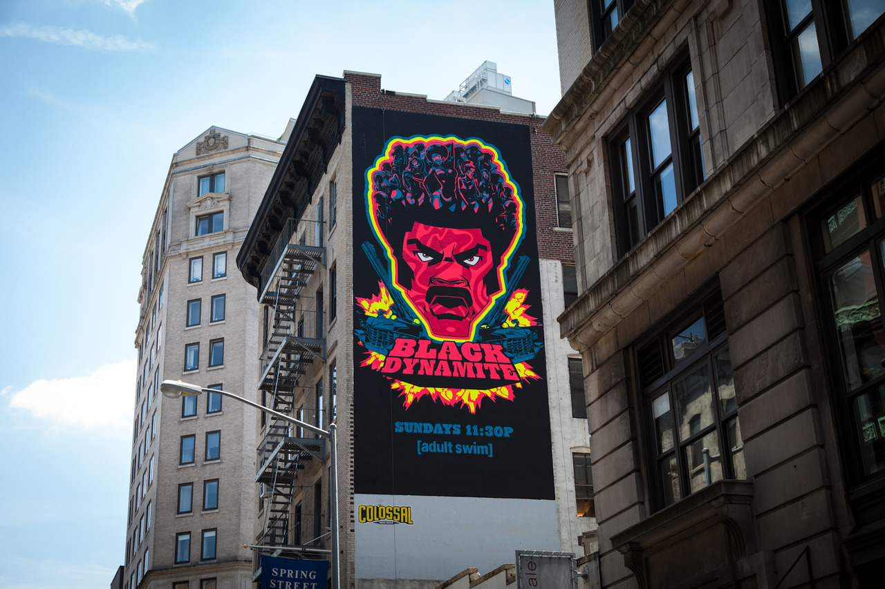 Neon Black Dynamite #adult swim