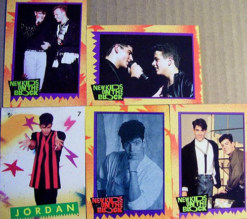 Jordan Knight NKOTB Trading Cards & Sticker (1989)