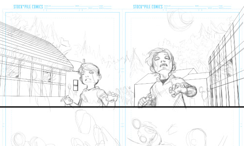 On the drawing board. Broken Legacy pages.-Jesse