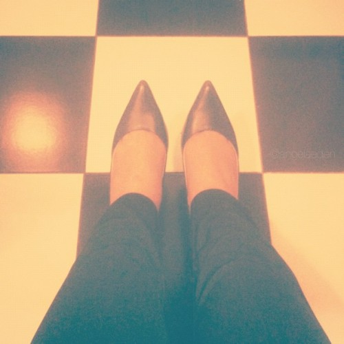 { Women and their shoes } I'm generally a flats kind of person, but there are days when I feel like wearing heels even though I know they'd kill my feet in the middle of the day. Just like lipstick, I would say heels have that effect of boosting a woman's confidence up a notch. However, my toenails are pretty much dead right now, so back to flats again tomorrow. (I don't even know how to walk properly in heels—or flats! :P) #shoes #heels #feet #weapon #fromwhereistand (Taken with Instagram)