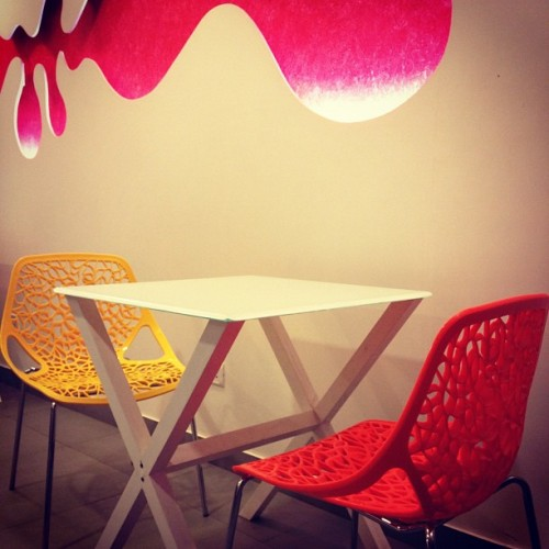 The Meshy Chair. #design #decor #bangalore #india #igers #instaoftheday  (Taken with Instagram)