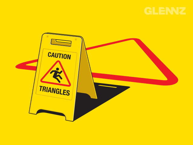 glennz:  Triangles Ahead - Now Voting.   Watch illustration video Visit Glennz Tees  | Twitter  | Facebook  | Flickr  | Behance  | Dribbble