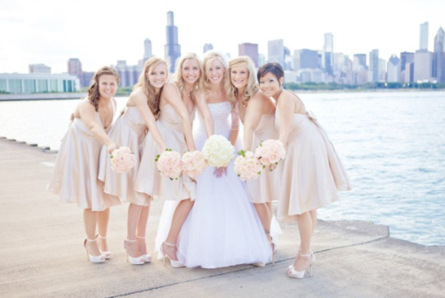 bridesmaids love their bride!