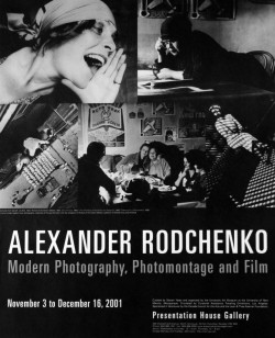 Very cool Canadian exhibition poster for an ALEXANDER RODCHENKO show at the Presentation House Gallery, 2001….