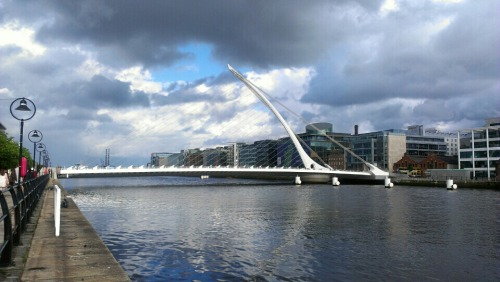 at Samual Beckett bridge