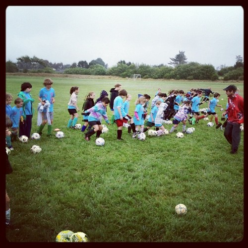 Mad River Youth Soccer Summer Camp. Humboldt, CA.  Each camper got a LF ball  (Taken with Instagram)