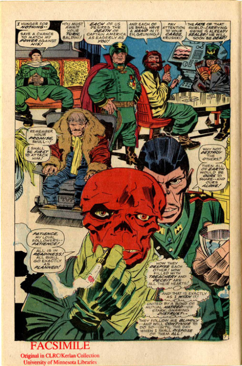 CAPTAIN AMERICA, 1st series, issue 104. Art by Jack Kirby and writing by Stan Lee.