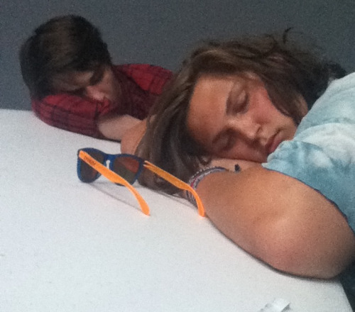 My friends sleeping in class ;)