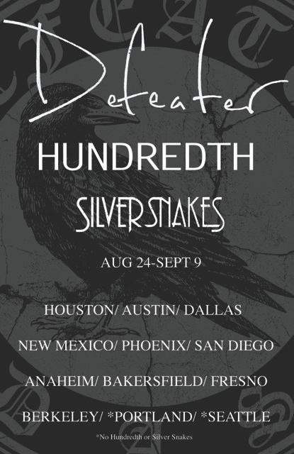Western US tour announced with Defeater & Silver Snakes.