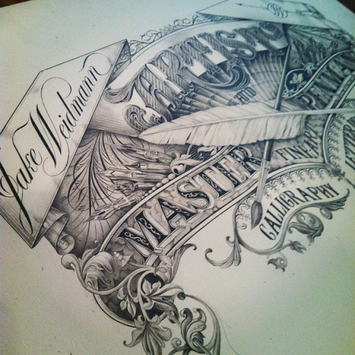 typeverything:  Typeverything.com - All pencil by Jake Weidmann