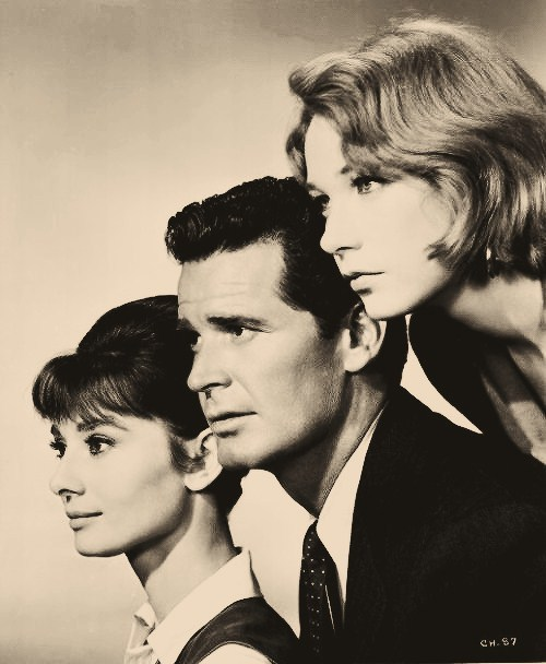 Audrey Hepburn, James Garner and Shirley Maclaine, publicity shot for The Children's Hour