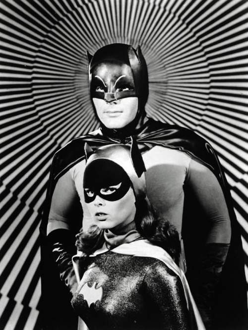 vintagegal:  Adam West and Yvonne Craig in a publicity photo for the Batman TV series (1960's)