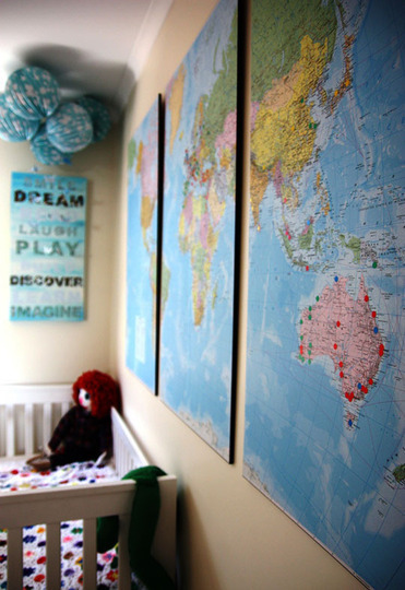 Apartment Therapy || Using Maps as Decor
