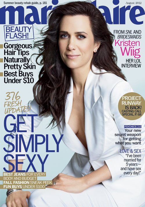 Kristen Wiig covers the August issue of @Marieclaire
