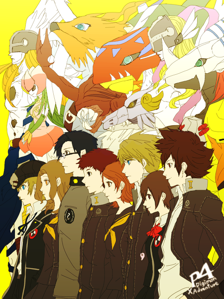 persona 4 x digimon adventure by Ri(ry