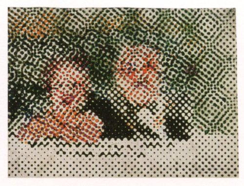 grupaok:  Sigmar Polke, The Pair, 1965—oil on canvas.