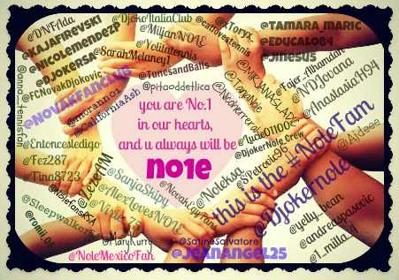 nolemexicofans:  @DjokerNole u've no idea how much we miss u, while u enjoy ur break, we'd this 4 u 2 know that we'll always b with u  #NoleFam