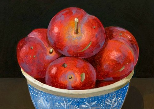 Charlotte Thodey Bigger Plums in Blue Bowl 21st century