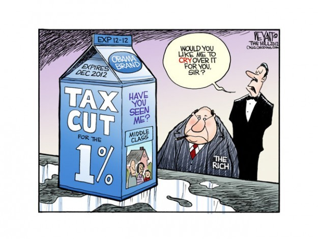 """The wealthy's mess"" Christopher Weyant, © 2012 Cagle CartoonsMore cartoons"