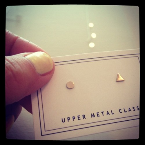 Favorite new @uppermetal class arrival: itty bitty mismatched studs (Taken with Instagram)