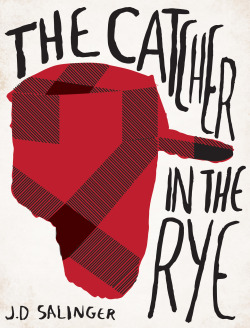 Catcher in The Rye by J.D Salinger Book Cover Re-Design: Book Cover Redesign #16 Holden's iconic hunting hat. Buy the high quality art print over at society6.