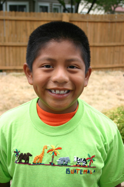 Marco from Guatemala, Smiling