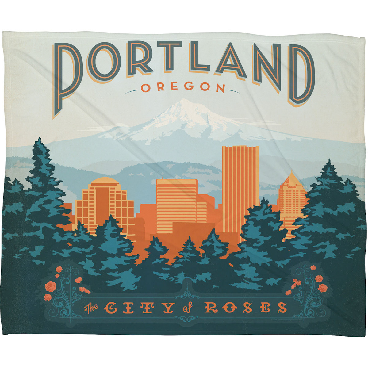Portland Fleece Throw 80x60 @denydesigns, 30% off now featured on Fab.Fab.comTurn your couch or chair into a retro love letter to Portland, Oregon. Featuring a print by Anderson Design Group that harkens back to the lofty U.S. travel spirit of the early 1900s, this fleece throw boasts rich colors and a nostalgia-inducing image.