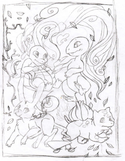 starter pokemon sketch.