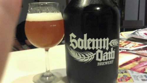 Solemn Oath Kidnapped By Vikings Excited to see more from these guys, considering they are a 4 minutes drive away from me. KbV is a super balanced ipa bordering on tropical with solid grapefruit and piney bitterness. Super clean and crisp mouthfeel, would recommend. Only problem: $25 growler (including glass). Who do these guys think they are, three floyds?