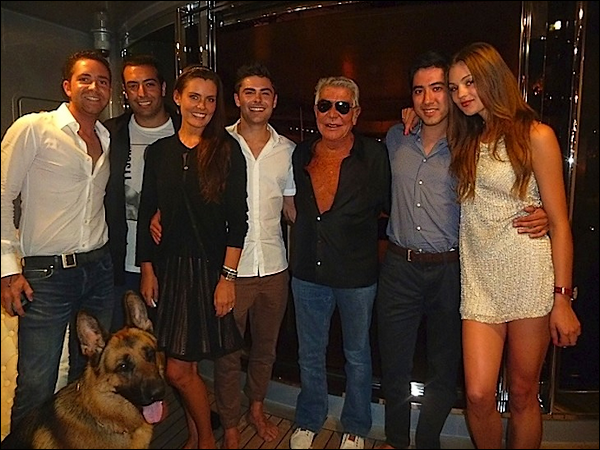 Roberto and Zac on Cavalli's yacht