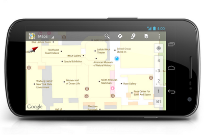 Indoor Google Maps help you make your way through museums  In the past, navigating through museums could be an art form in and of itself. But Google Maps for Android has got wayfinding inside your favorite museums down to a science. With indoor maps and walking directions for U.S. museums now available on your Android phone or tablet, you can plan your route from exhibit to exhibit, identifying points of interest along the way, including between floors.Today, we've added more than twenty popular U.S. museums to our collection of over 10,000 indoor maps that we launched in November: the de Young Museum in San Francisco, the Philadelphia Museum of Art, Cincinnati Museum Center, the Indianapolis Museum of Art, the American Museum of Natural History and 17Smithsonian museums—plus a zoo!