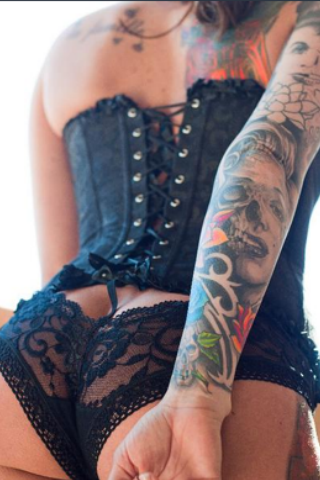 corset and bum #hotinkedgirls