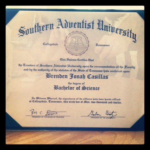 Finally. I'm rewarded a piece of paper.  (Taken with Instagram)